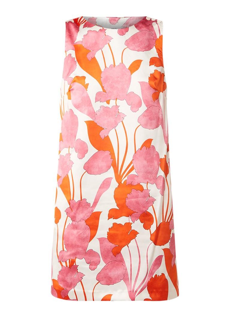 Mango Tika mouwloze mini-jurk met bloemendessin roze