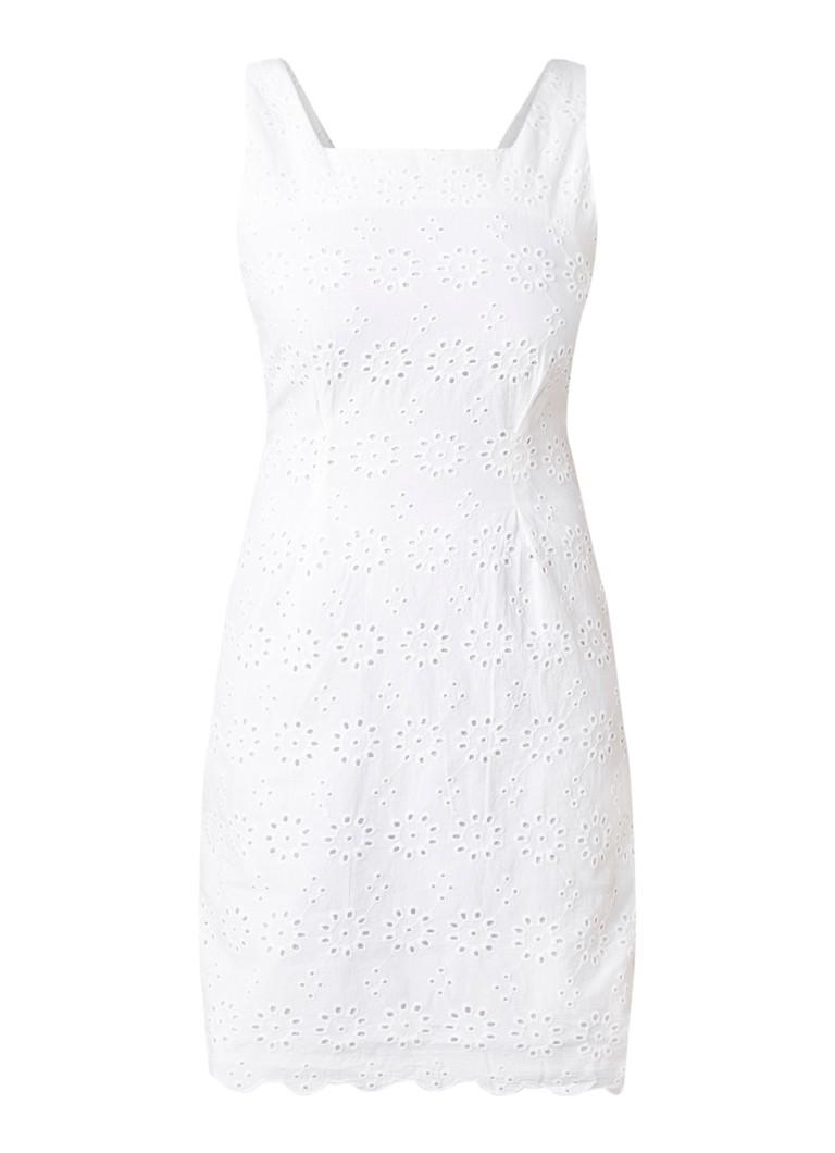 Mango Filo mini-jurk van broderie wit