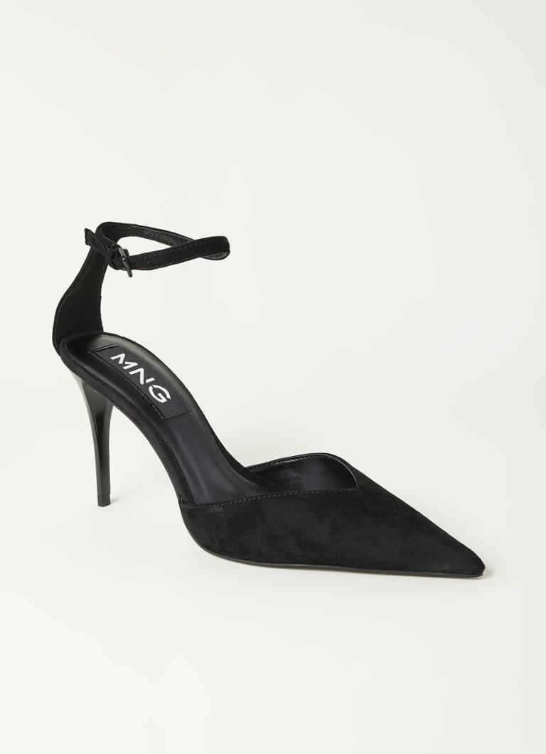 Mango Ticia sandalette van suède online kopen