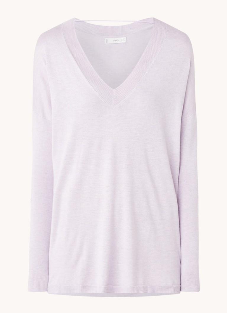 Mango Lombia fijngebreide pullover met V-hals online kopen
