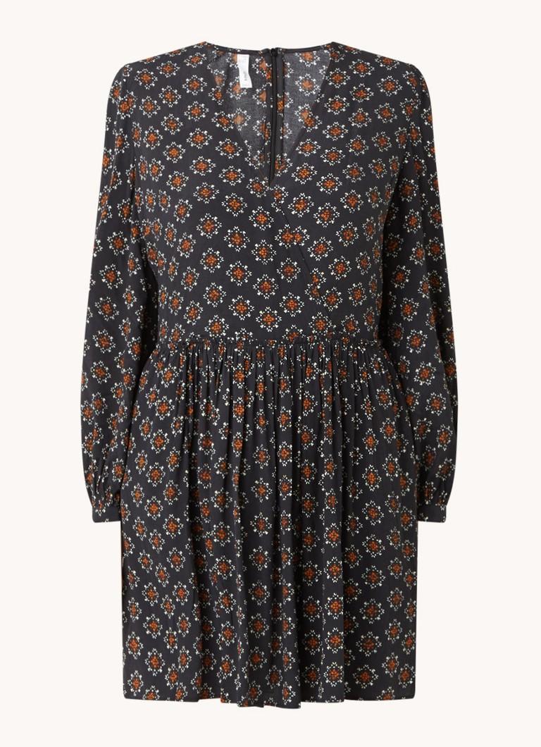 Africa mini jurk met print