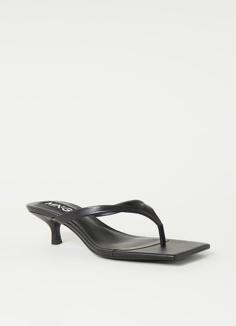 Mango Leren sandalen met hakken online kopen