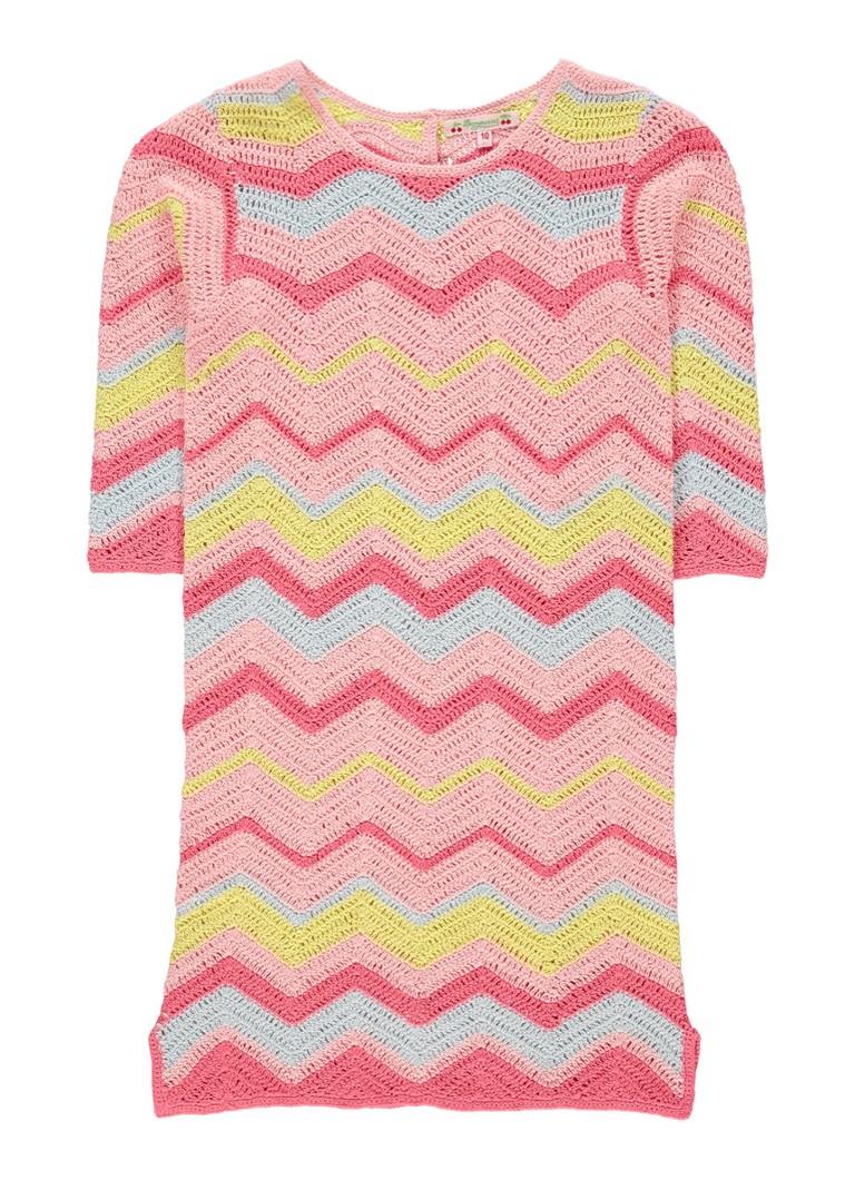 Bonpoint Crochet fijngebreide jurk met zigzag dessin