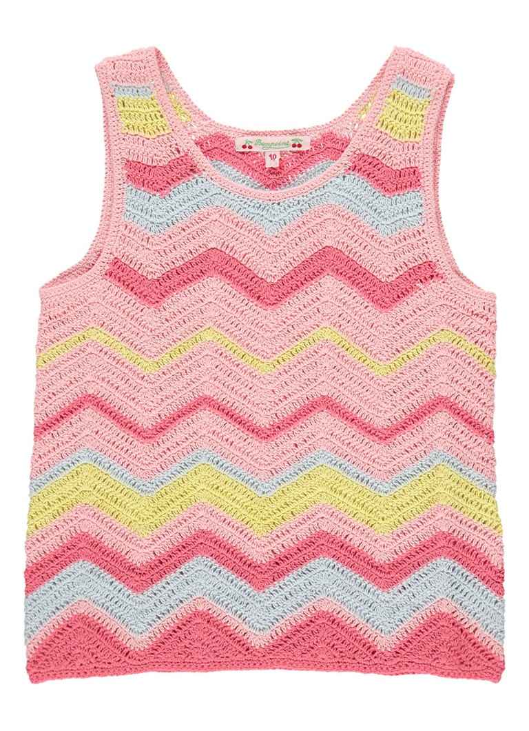 Bonpoint Crochet top met zigzag dessin