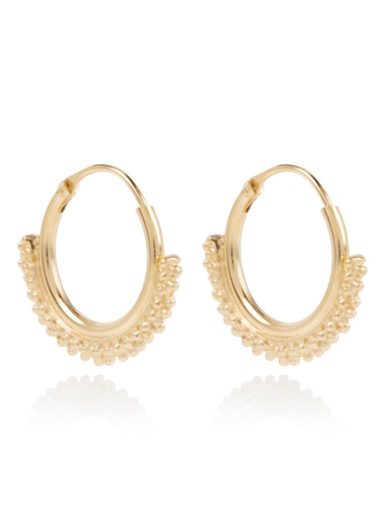 Fashionology Oorringen Daisy van zilver met 14k gouden plating 2-10-416-12