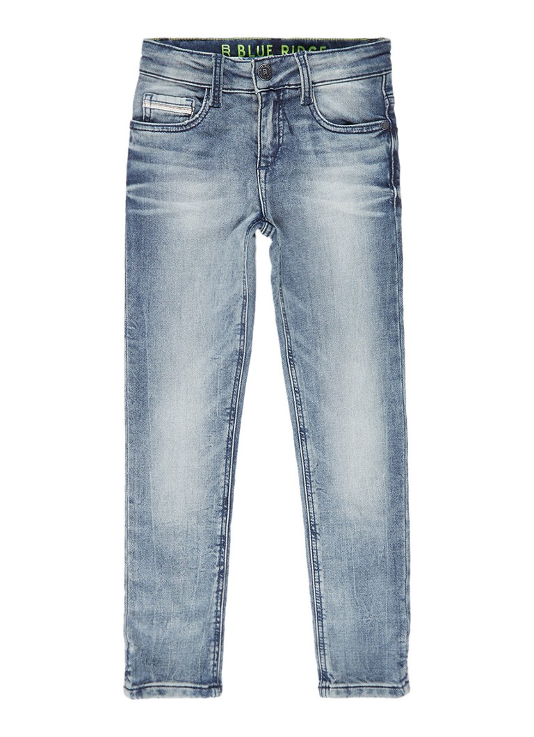 WE Fashion Rojo Dragon skinny fit jeans met medium wassing