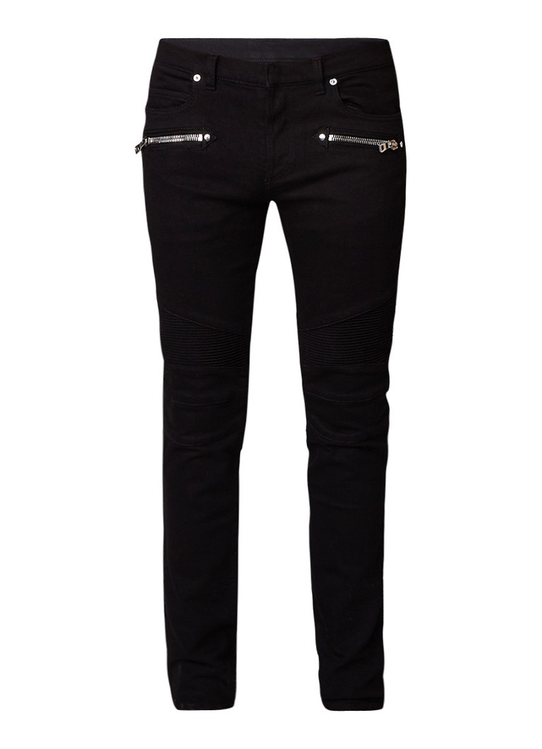Balmain Biker Jean slim fit jeans met ritszakken