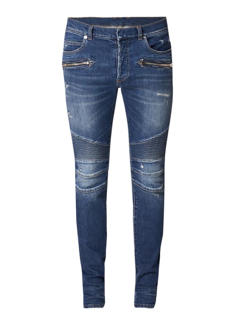 Balmain Vintage slim fit jeans met destroyed details