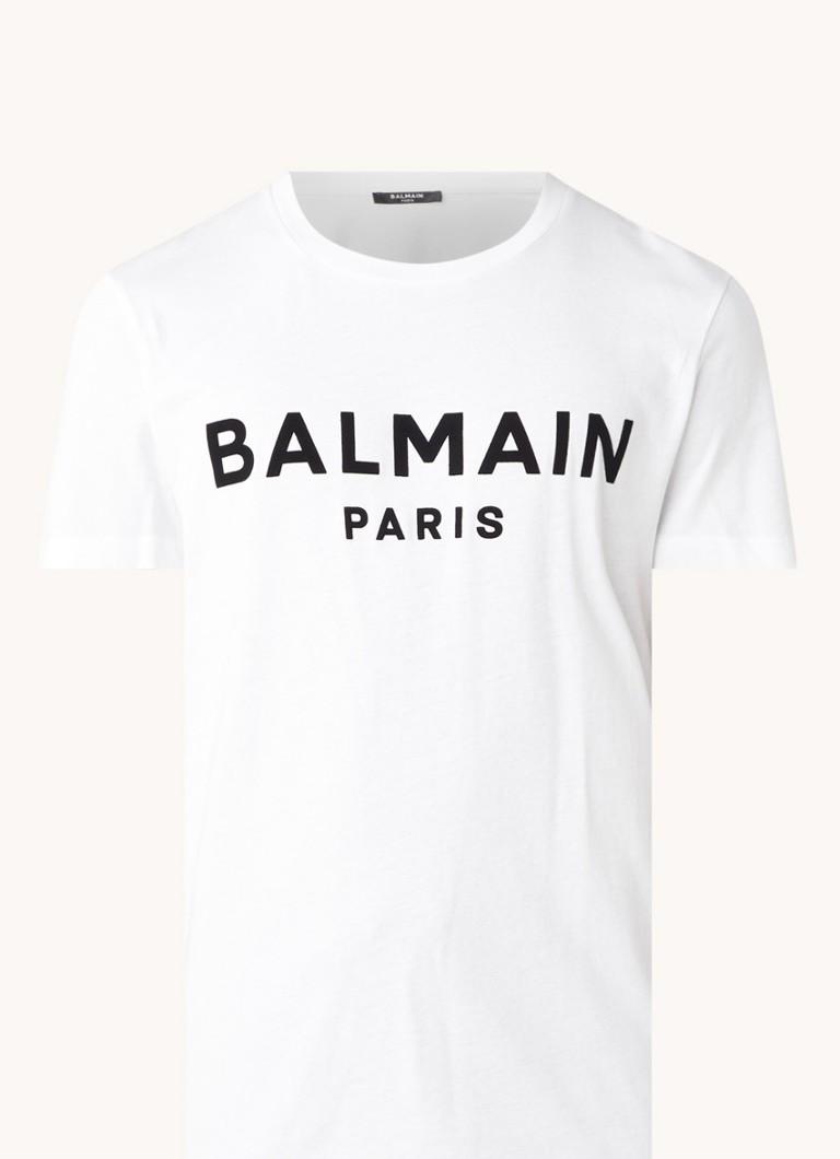 Balmain T-shirt met flock logoprint