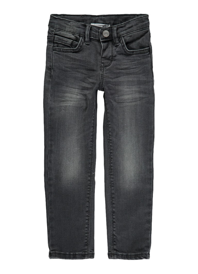 Noppies Nantua slim fit jeans met faded look