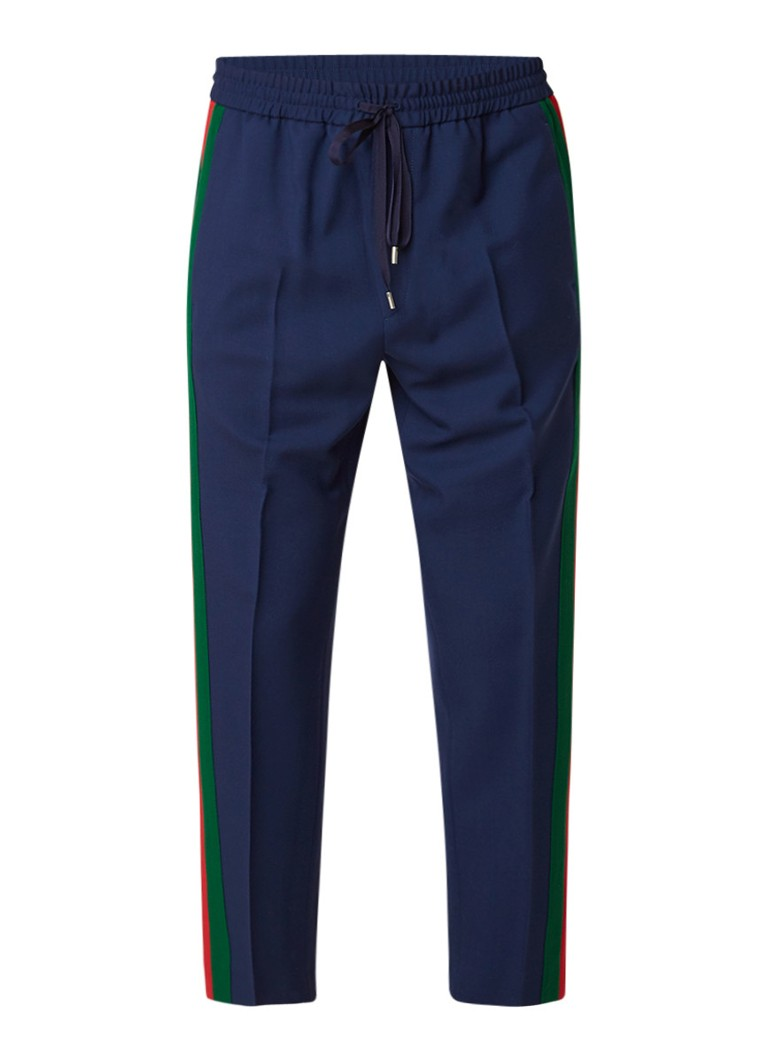 Gucci 7/8 straight fit pantalon met logobies