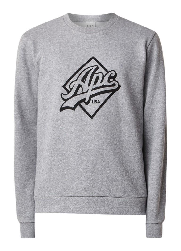 A.P.C. Sherman sweater met logoprint