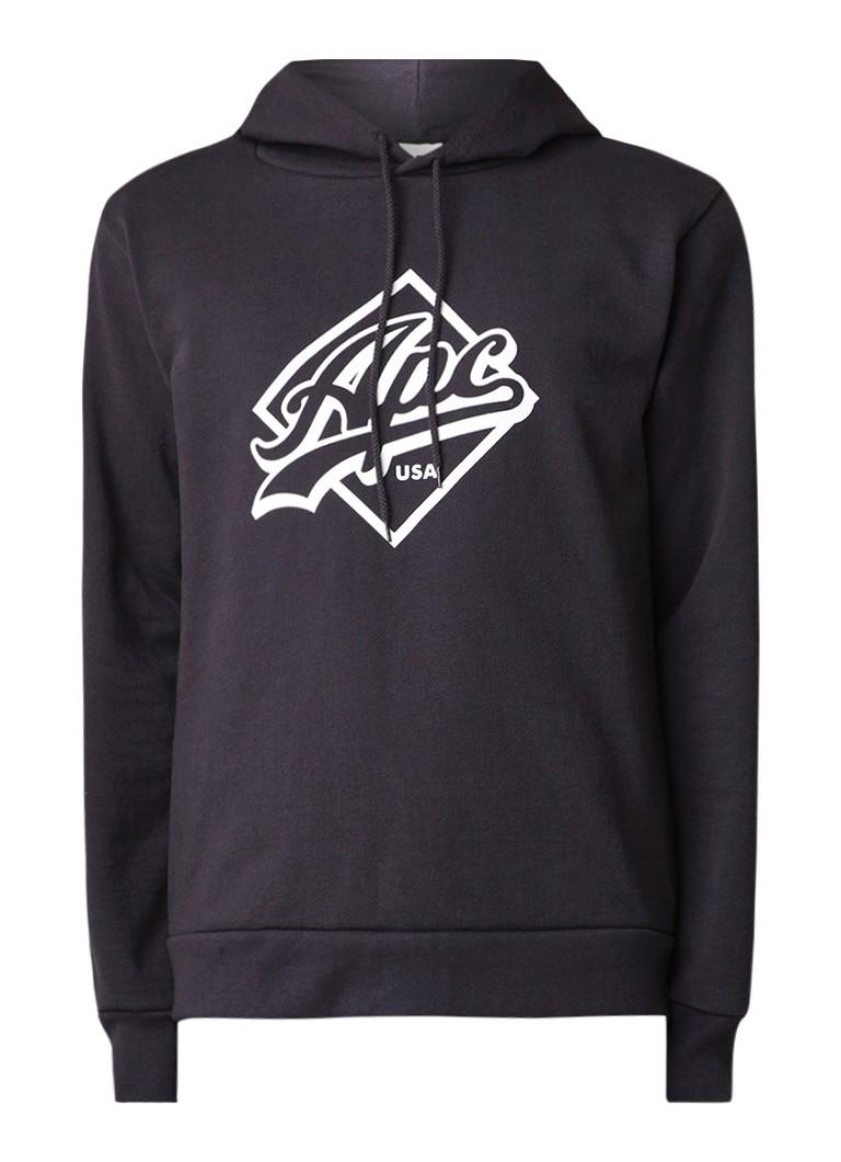 A.P.C. Wayne hoodie met logoprint