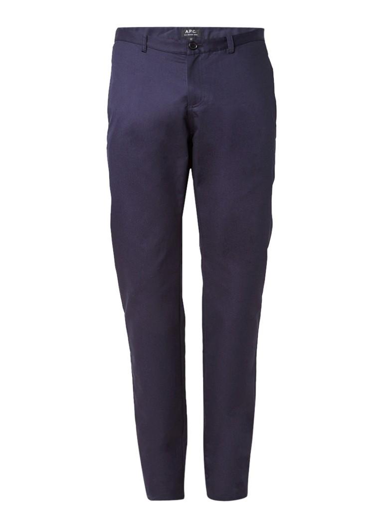 Broeken A P C  Mid rise slim fit chino van katoen Donkerblauw