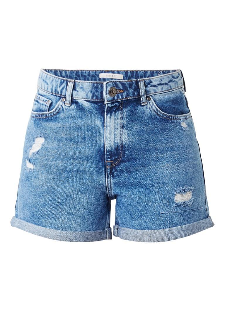 Sissy-Boy Baukje denim shorts met destroyed details