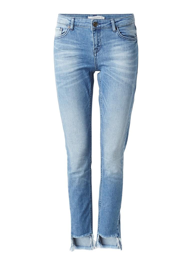 Sissy-Boy Baxter cropped skinny jeans met gerafelde zoom