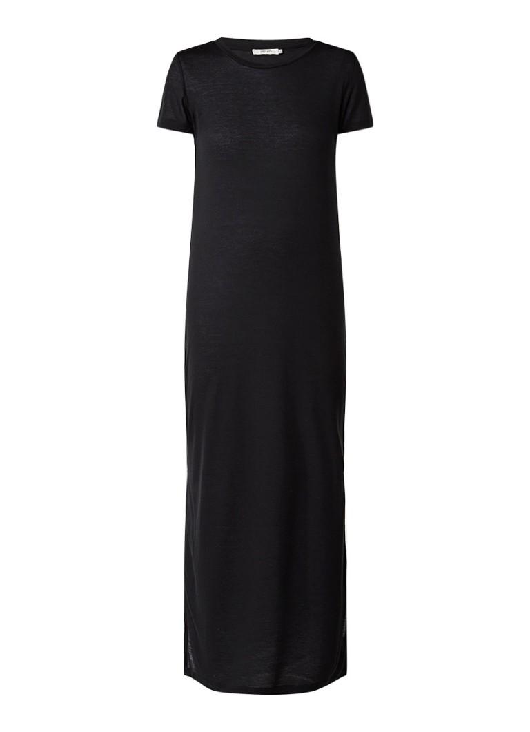 Sissy Boy Jaden maxi T-shirt jurk met zijsplits zwart