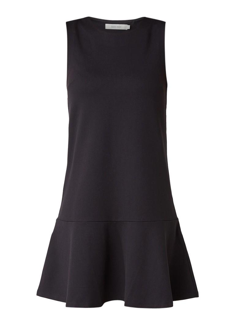 Sissy Boy Janice mouwloze jurk met volant zwart