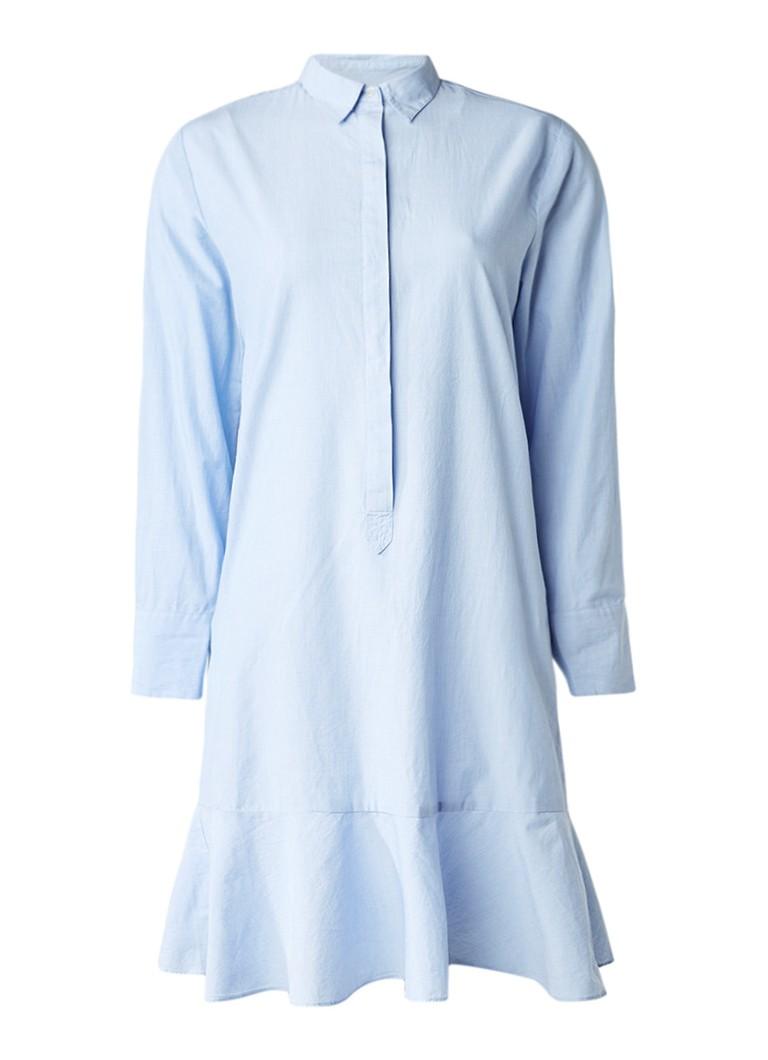 Sissy Boy Jetty blousejurk van katoen met volant lichtblauw