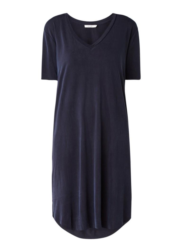 Sissy Boy Justine midi-jurk van cupro donkerblauw