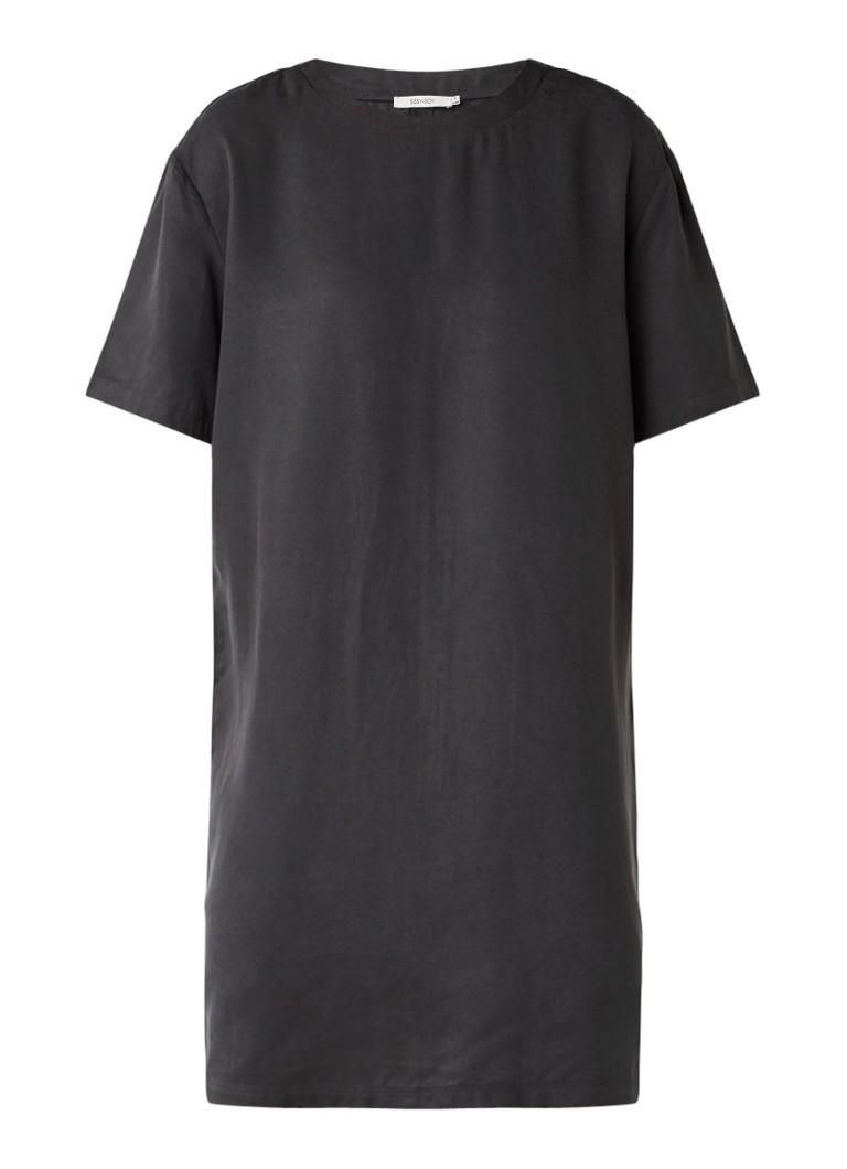 Sissy Boy Jany rechte jurk met ronde hals antraciet