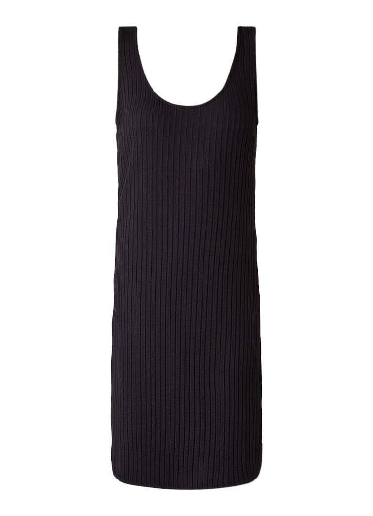 Sissy Boy Janey korte ribjersey jurk zwart