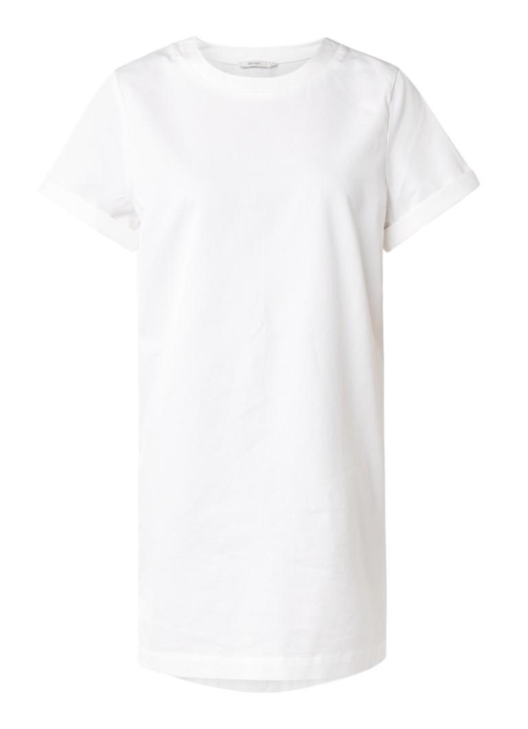Sissy Boy Jayda T-shirtjurk met structuur gebroken wit