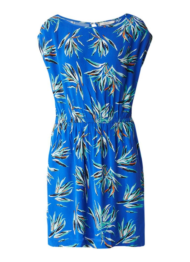 Sissy Boy Jorien jurk met palmdessin blauw