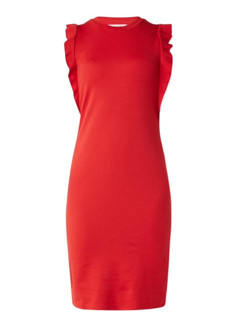 Sissy Boy Jai midi-jurk van jersey met volant rood