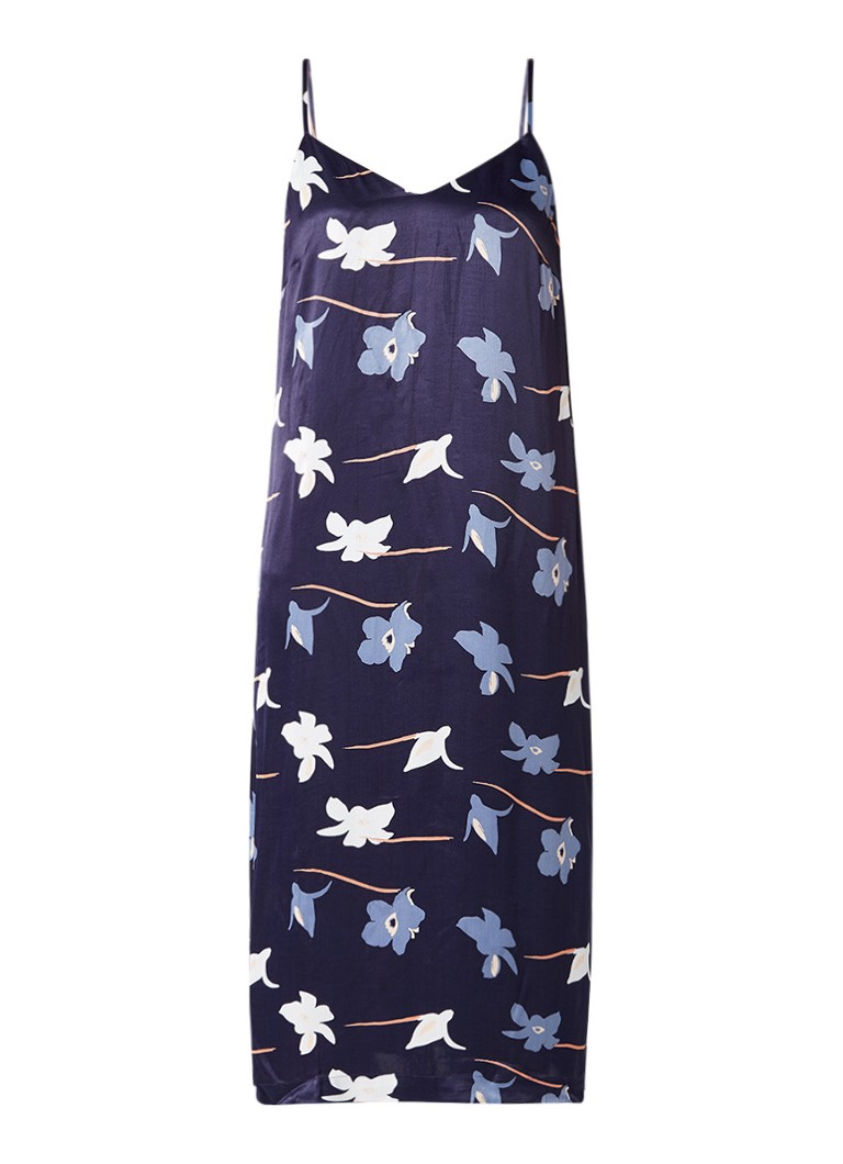Sissy Boy Jones slipdress met dessin donkerblauw
