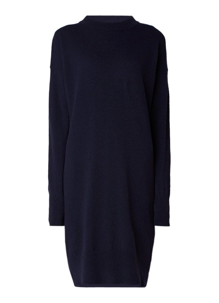 Sissy Boy Jerinas fijngebreide trui-jurk in kasjmierblend donkerblauw