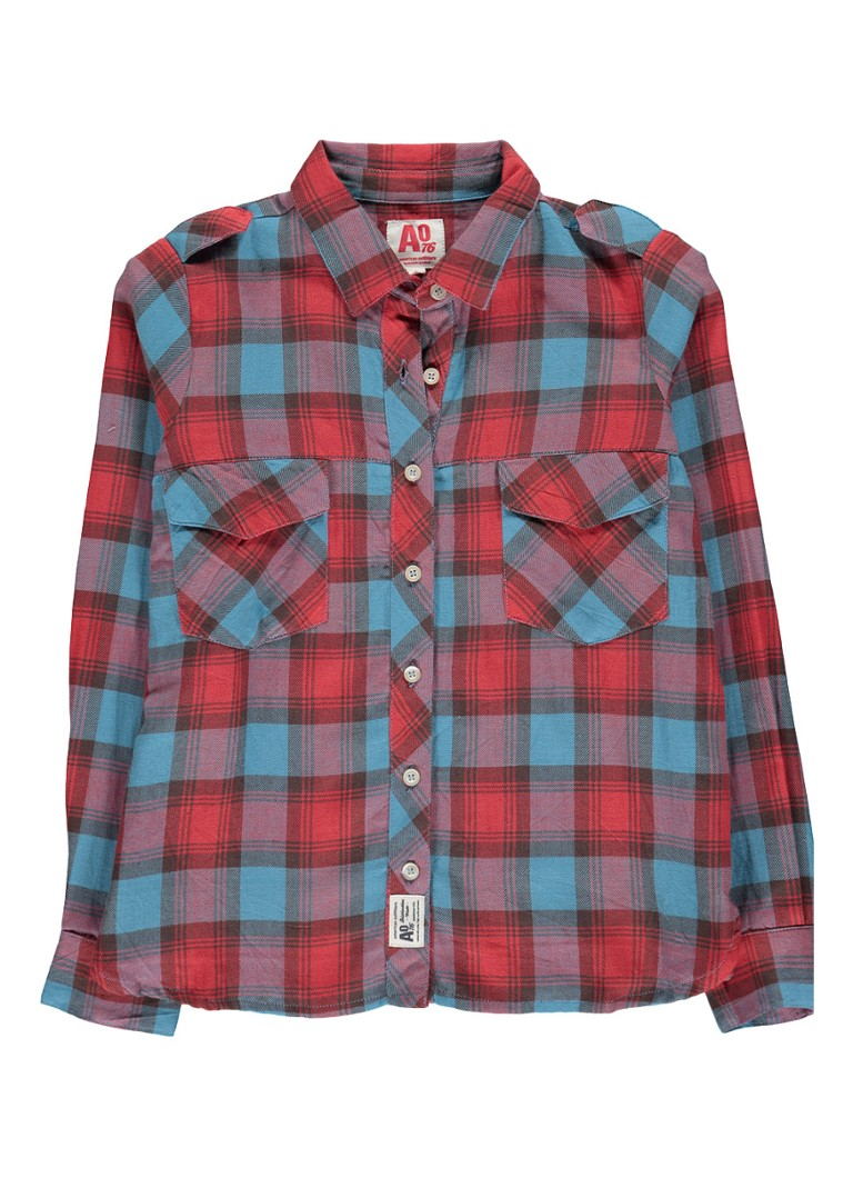 AO76 Deora blouse met ruitdessin