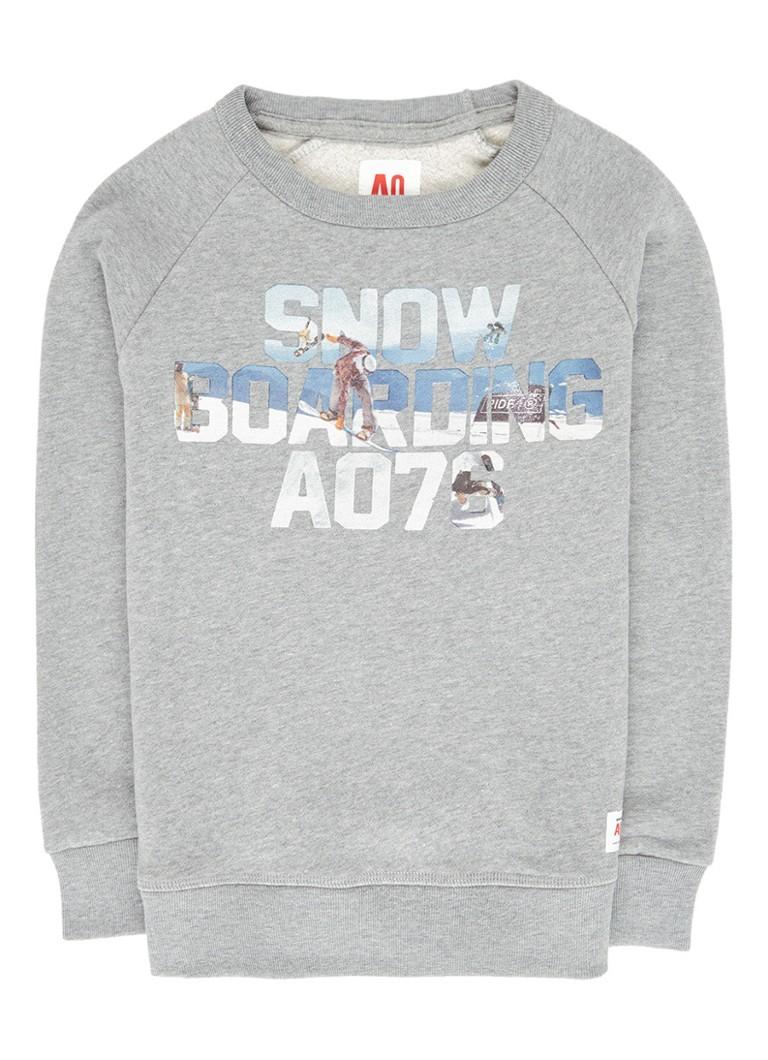 AO76 Gemêleerde sweater met tekstprint