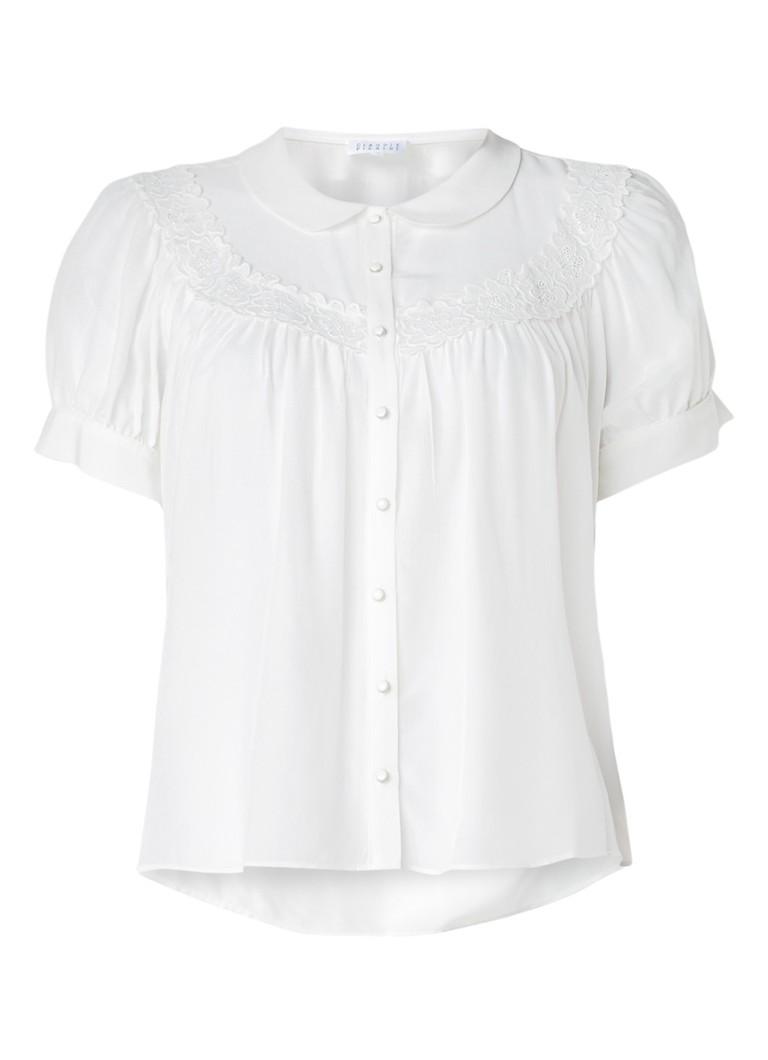 Claudie Pierlot Corso blouse met details van kant