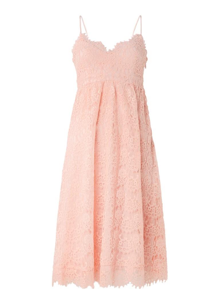 Claudie Pierlot Rieuse A-lijn jurk van kant lichtroze