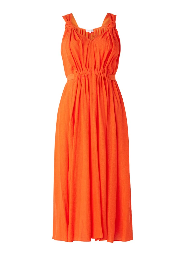 Claudie Pierlot Rousse A-lijn jurk met strik oranje