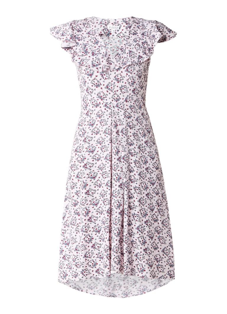 Claudie Pierlot Rosalie midi-jurk met bloemendessin lichtroze