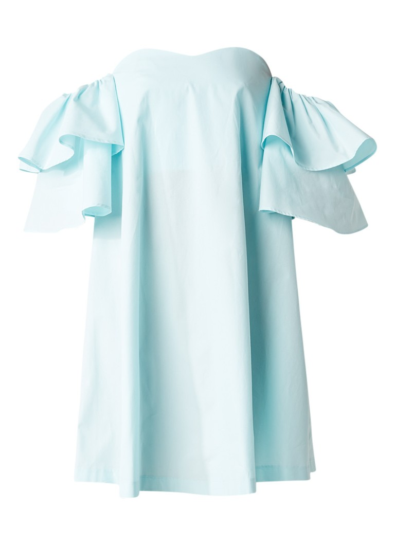 Claudie Pierlot Rakam off shoulder jurk mint