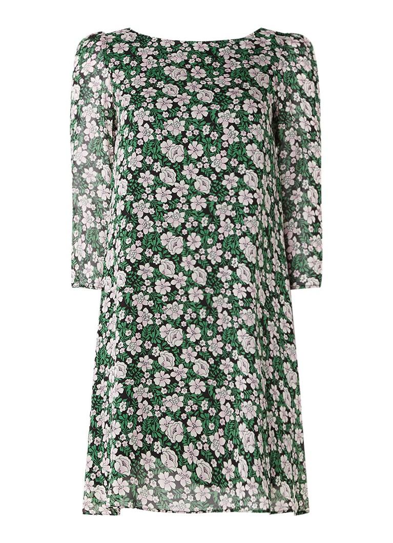 Claudie Pierlot Rififi Fleurs jurk met bloemendessin groen