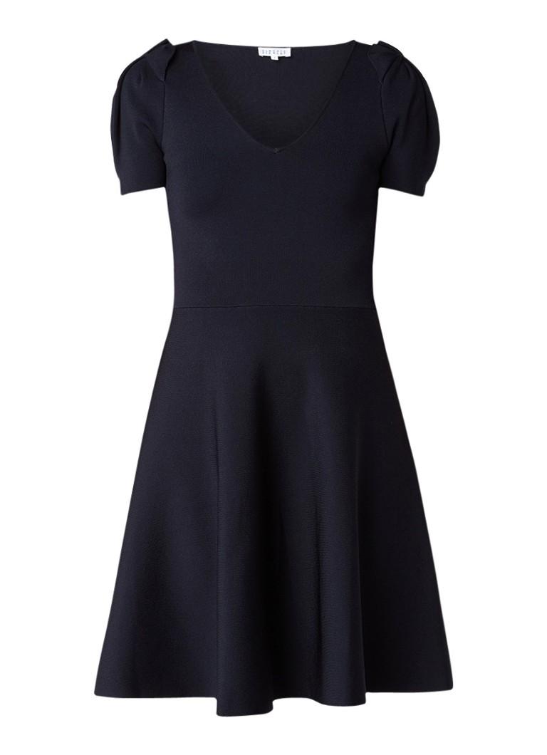Claudie Pierlot Magnolia A-lijn jurk van fijngebreid materiaal donkerblauw