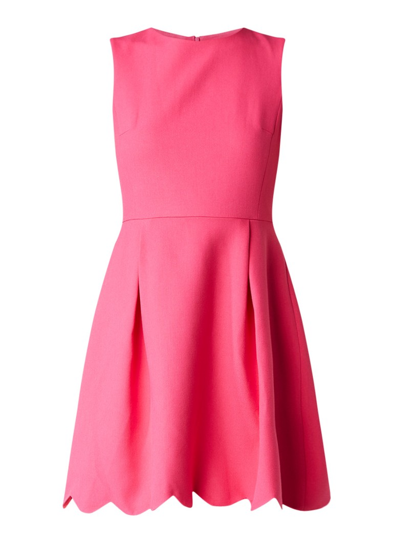 Claudie Pierlot Ravissante A-lijn jurk met geschulpte zoom fuchsia