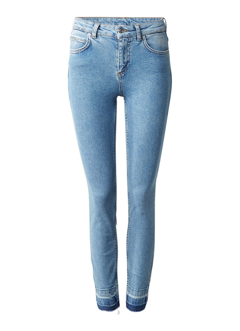 Claudie Pierlot Pavot cropped high rise slim fit jeans met enkelrits