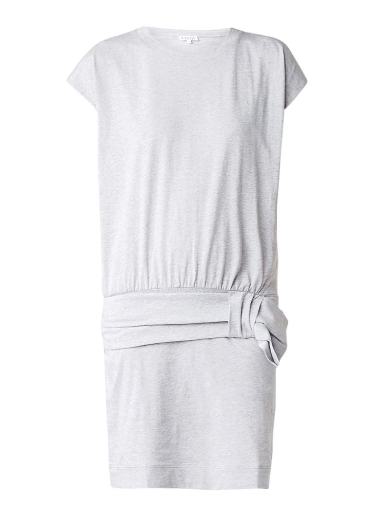 Claudie Pierlot Tasmania mini-jurk van stretchjersey met heupband grijs