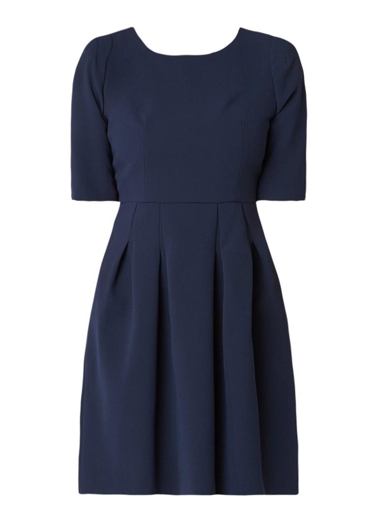 Claudie Pierlot Roller A-lijn jurk met plooidetails donkerblauw