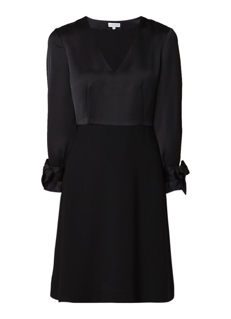 Claudie Pierlot Rhita A-lijn jurk met strikdetail zwart