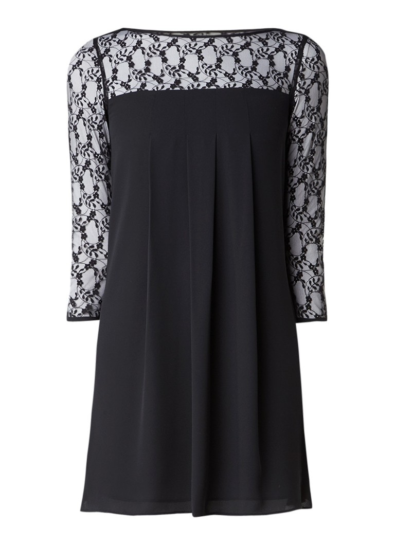 Claudie Pierlot Royaume A-lijn jurk met top van kant zwart