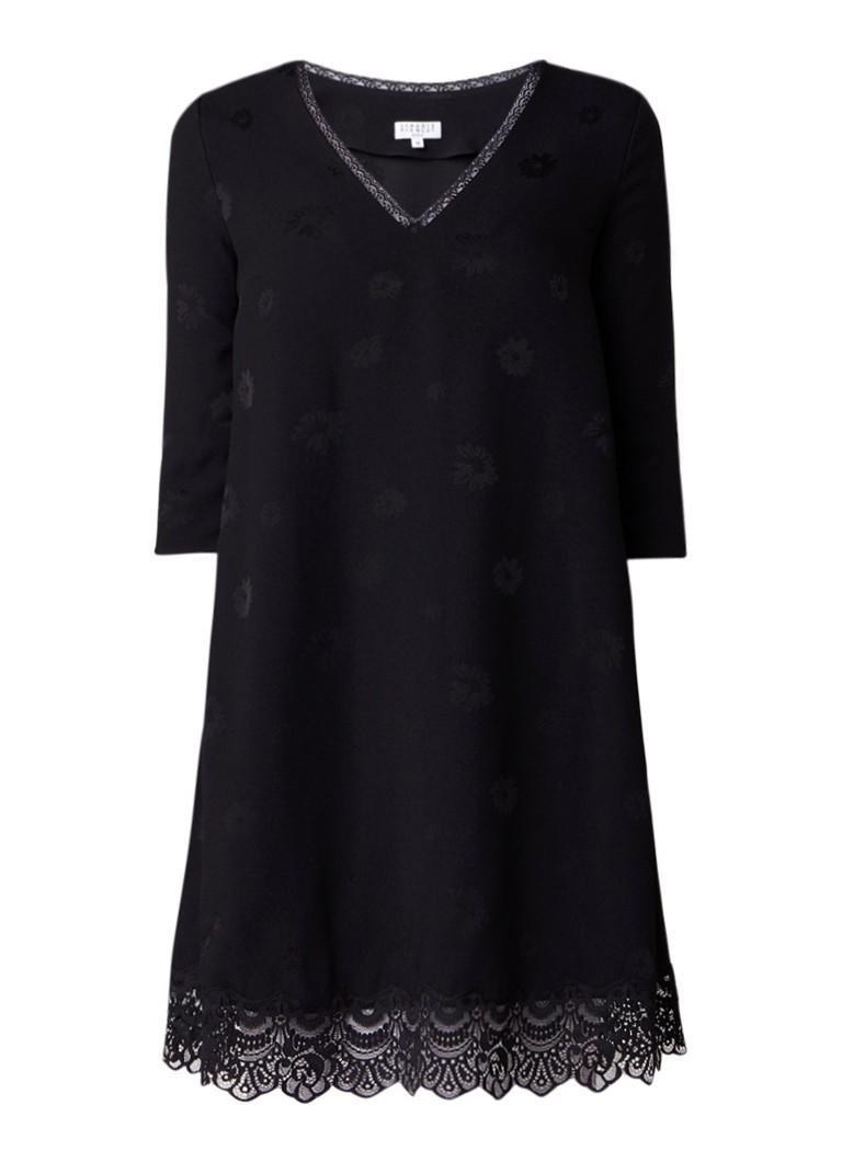 Claudie Pierlot Real Bis tuniekjurk met kant en bloemendessin zwart