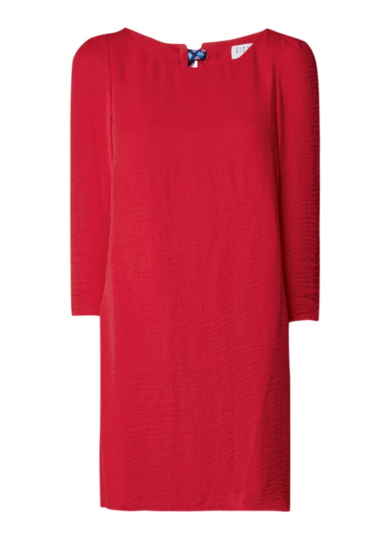 Claudie Pierlot Rififi tuniekjurk met strikdessin rood