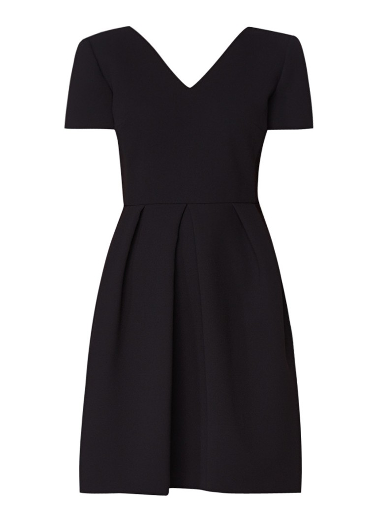 Claudie Pierlot Rosaline A-lijn jurk van crêpe met gekruiste banden zwart
