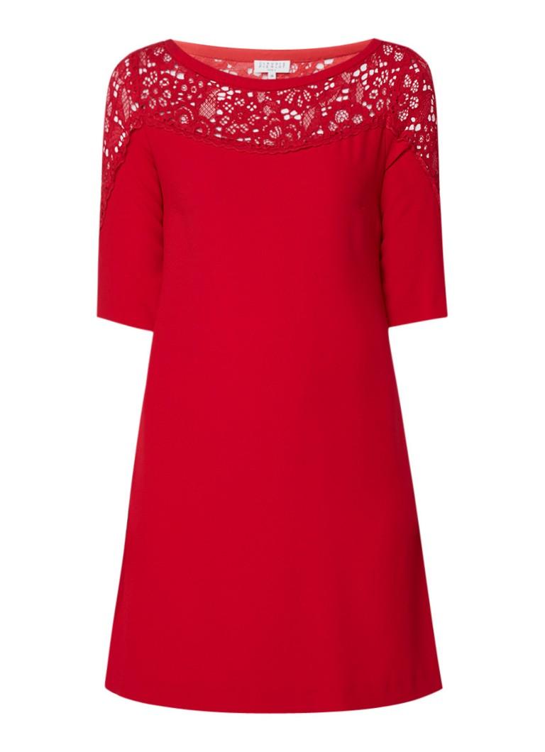 Claudie Pierlot Ryan mini-jurk met kant en halflange mouw zwart